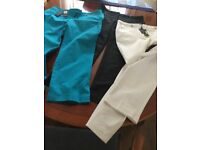M&Co trousers Size 12 in perfect condition 2 still with tags white, black and turquoise.