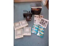 Polaroid Super Swinger Land Camera, Film, Flash Bulbs, Box & Instructions, Photography
