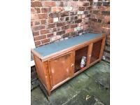 Rabbit hutch and water bottle