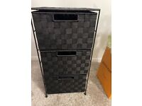 Black woven storage draws £10. Available!