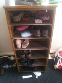 Wooden Shoe rack for sell £20 on offer