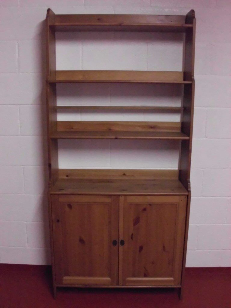 IKEA LEKSVIK BOOKCASE WITH STORAGE CUPBOARD. IN EXCELLENT CONDITION.