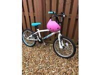 Girls BMX Bike with helmet included