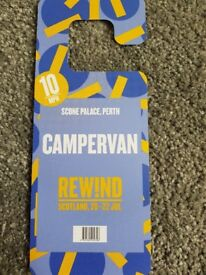 Rewind Scotland Campervan weekend pass ticket face value £90