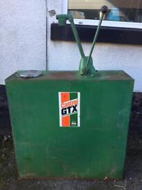 Vintage Castrol oil can with pump
