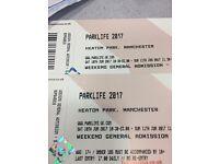 2 Parklife Weekender Festival Tickets