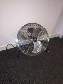 Silver floor Fan