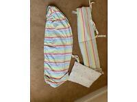 Mothercare cot bumper and mattress sheet