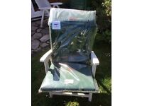 Waterproof cushions for 3 garden chairs and a sun lounger (brand new)