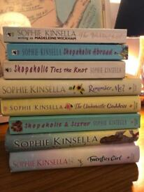 8 Sophie Kinsella Books - good condition. Great holiday reads