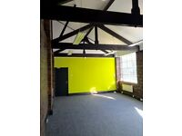 SECOND FLOOR STUDIO OFFICE TO LET WITH PERIOD FEATURES – EXPOSED BRICKWORK AND HIGH CEILINGS