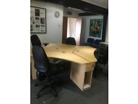 **OFFICE FURNITURE - DESKS/TABLES/CHAIRS**