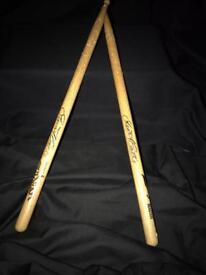 Drum sticks - Signed Stuart Cable (Stereophonics)