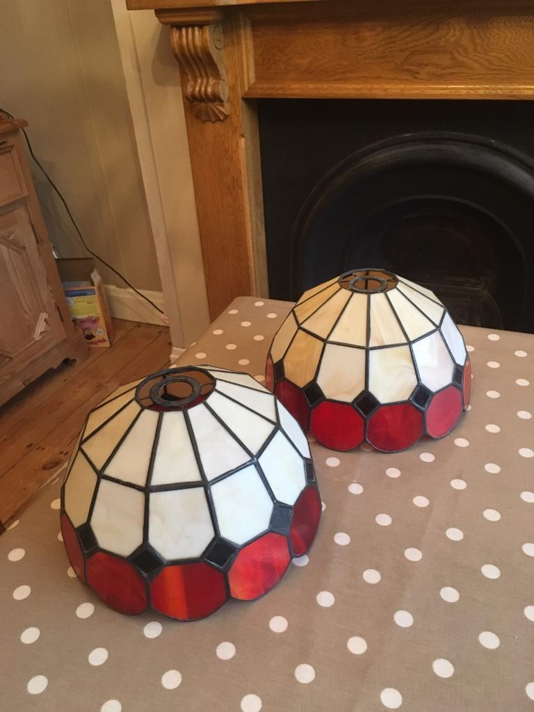 Pair of Tiffany style light shades