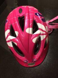Raleigh girls' cycle helmet 6-11 yrs