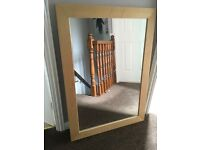 John Lewis Maple mirror 76cm x 106cm