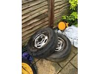 Free transit wheels and tyre