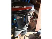 Boats mariner 60hp outboard with controls and loom
