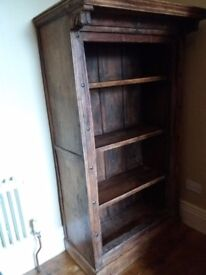 Original and authentic wooden bookcase