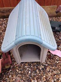 plastic dog kennel