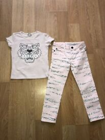 Designer girls jeans and tshirt set from kenzo