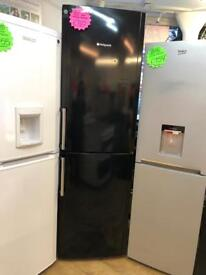 HOTPOINT TALL FROST FREE FRIDGE FREEZER IN BLACK