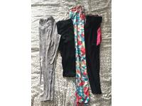 Running tights and yoga leggings