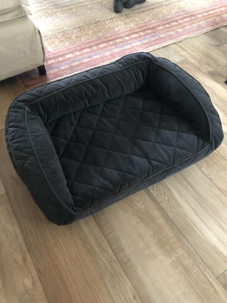 Brand New Orvis Medium Navy Bolster Memory Foam Dog Bed
