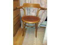 Vintage Fischel Bentwood Carver Chair