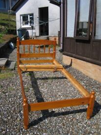 Pair of single pine bed frames