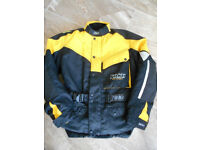 Goretex motorbike jacket, armour + removable lining, summer/winter safety