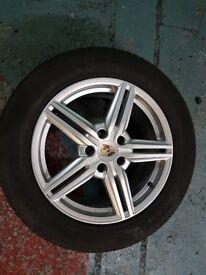 "Genuine 19"" PORSCHE ALLOYS from 2012 Cayenne S with New PIRELLI Tyres"