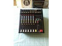 citronic cps 408 amp powered mixer...brand new 2 brand new mics and 2 speakers