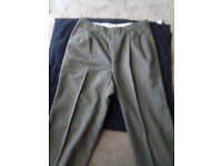 ST Michael Green Office Trousers Size W- 32'' L-33''