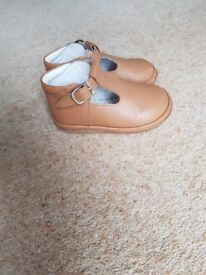 Toddler T-Bar Leather Shoes - Size 4