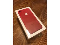 New, iPhone 7, 32GB, Red, Unlocked.
