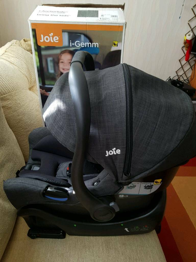 joie i gemm car seat in pavement colour with isofix base. Black Bedroom Furniture Sets. Home Design Ideas