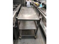 Moffat stainless steel trolly 3 tier