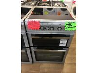 FLAVEL 60CM BRAND NEW CEROMIC TOP ELECTRIC COOKER IN SILIVER