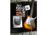 Peavey Raptor Plus Guitar and amplifier with accessories