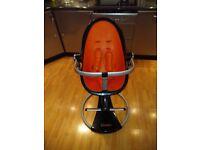 Fresco Bloom high chair black/orange