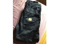 Carhartt petrol blue trousers size 33x32. Worn once!