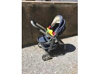 Child pram and car seat and buggy