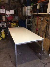 IKEA Torsby tables x 2 White gloss tops/chrome legs