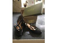 Black ladies ballroom shoes