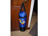 Childrens boxing/kicking punch bag with hanging facility