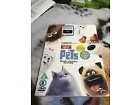 The secret life of pets DVD + stickers