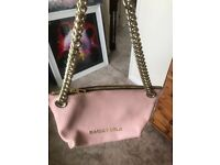 Bimba Lola pink thick leather on a gold chain