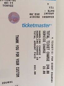 4 x Olly Murs Golden Circle Standing ( over 14 ) 05/04/16 @ SSE Arena £262 for all 4