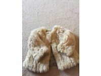 Zara Faux Fur Coat Girls 12-18 Months